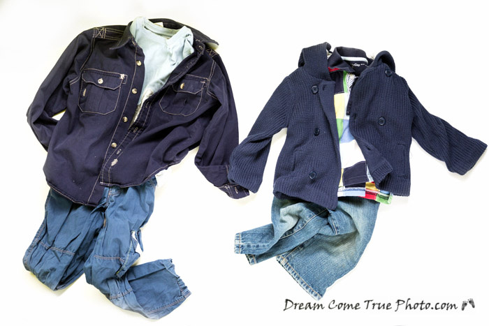 DreamComeTruePhoto: Photoshoot Preparation - cloth coordinating, blue