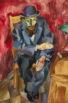 Art Neue Galerie: Robert Falk b. 1886 d. 1958  Man in a Bowler Hat (Portrait of Yakov Kagan-Shabshai) 1917