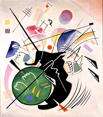 Neue Galerie New York: Vasily Kandinsky, Black Form 1923