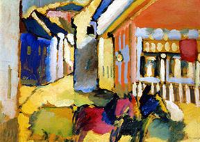 Vasily Kandinsky: Street With Horse-Drawn Carriage