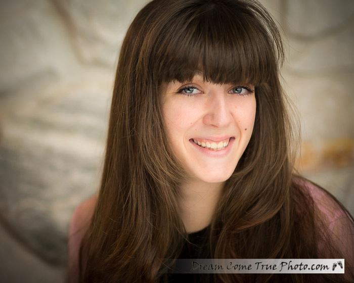 Dream Come True Photo - Beautiful senior girl headshot - natural, sweet, and loving.  Marlboro NJ.