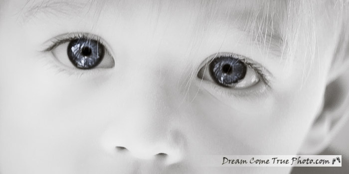 Dream Come True Photo: an amazing gaze in the eyes of a one year old boy.