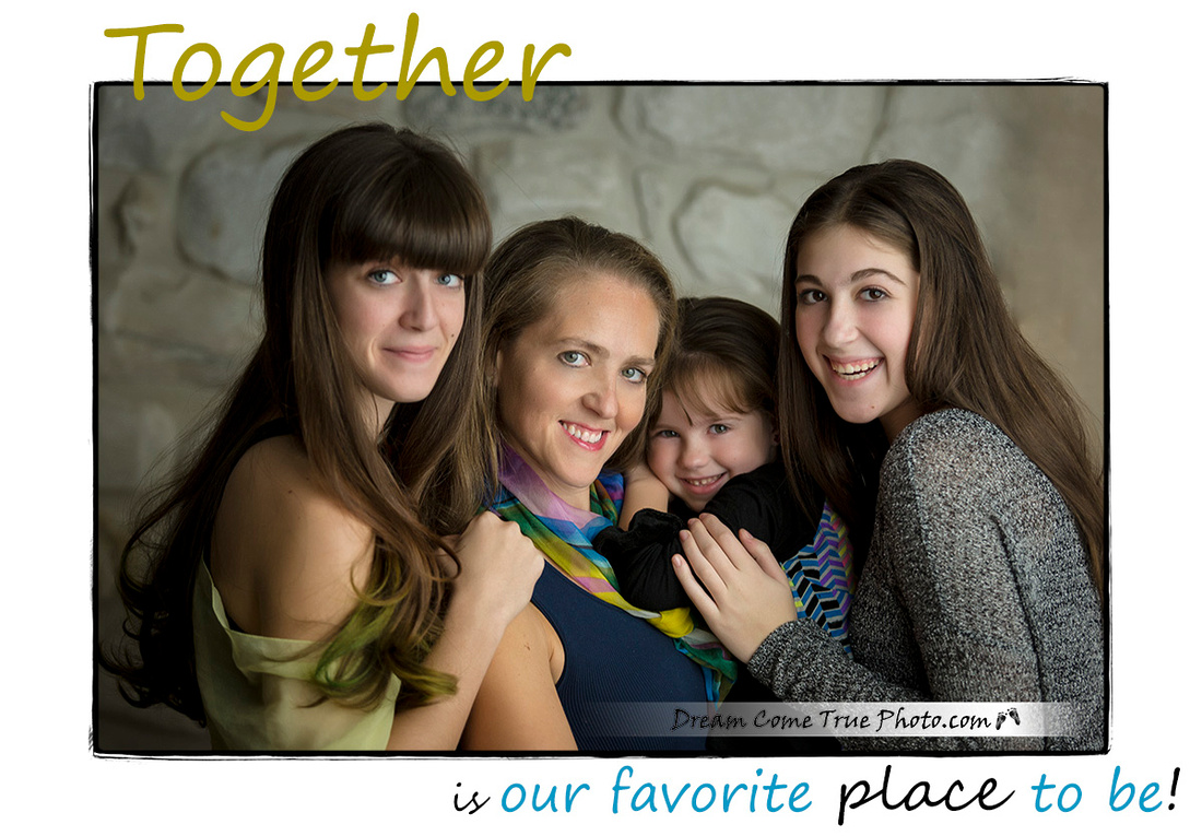 Dream Come True Photo - Capturing Connection and Love for the Family; Timeless image of mom and her daughters