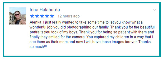 Dream Come True Photo Testimonial for a family photo session in Freehold NJ