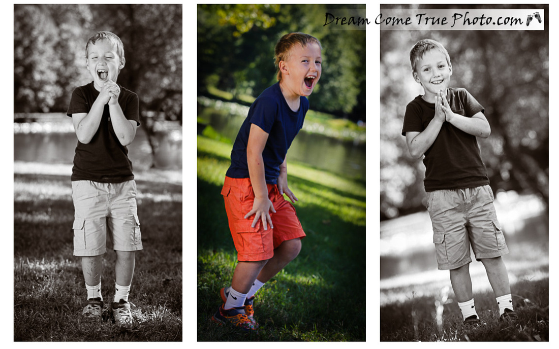 Dream Come True Photo - Family Photosession outside - Capturing true personality of little boy having fun