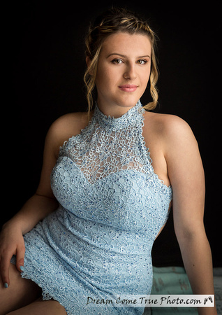 Dream Come True Photo: senior prom photo Freehold NJ glamorous and beautiful girl in a blue dress during a fun and memorable photographic experience creating timeless memories