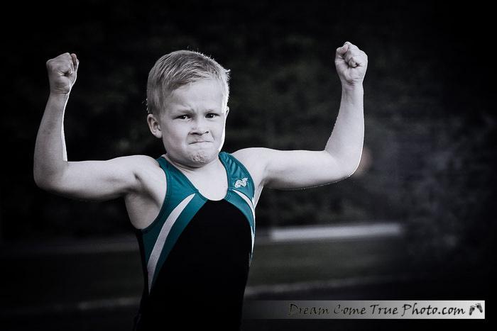 Dream Come True Photo - little boy showing his big muscles