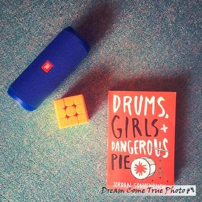 DreamComeTruePhoto, A Dream Photo of favorite book for a busy mom of a teen - Drums, Girls + Dangerous Pie by Jordan Sonnenblick