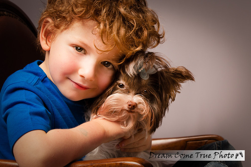 DreamComeTruePhoto_8T9A0157-T adorable baby boy who loves and hugs his puppy little doggy